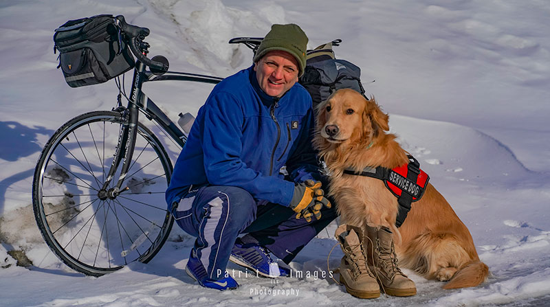 Duty Calls: Army veteran bikes 3,500 miles to aid Woofs for Warriors
